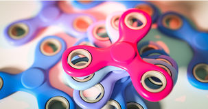 Gruppo di illustrazione del giocattolo 3d di alleviamento di sforzo del filatore di irrequietezza Fotografia Stock Libera da Diritti