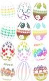 Gruppo di illustrazione delle uova di Pasqua Immagini Stock