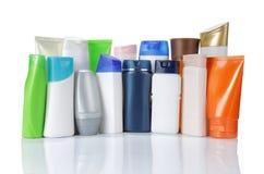 Gruppo di imballaggio del prodotto. isolato sopra bianco Fotografie Stock Libere da Diritti