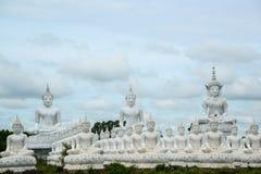 Gruppo di immagine bianca di Buddha Fotografia Stock