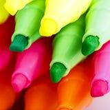 Gruppo di indicatori luminosi di colore della penna a feltro Fotografia Stock