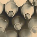 Gruppo di indicatori luminosi di colore della penna a feltro su fondo bianco Fotografia Stock Libera da Diritti