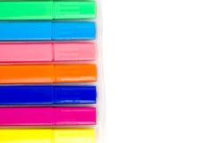 Gruppo di indicatori luminosi di colore su fondo bianco Immagini Stock Libere da Diritti