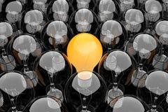 Gruppo di lampadine Immagini Stock