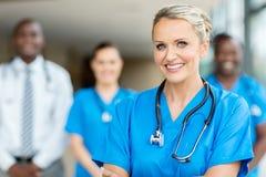 Gruppo di lavoratori medici Fotografie Stock Libere da Diritti