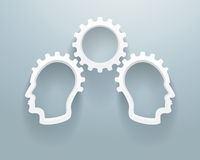 Gruppo di lavoro astratto di 'brainstorming' Immagine Stock