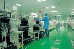 Gruppo di lavoro della fabbrica Immagini Stock