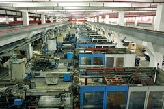 Gruppo di lavoro della fabbrica Immagine Stock Libera da Diritti