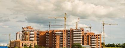 Gruppo di lavoro delle gru di costruzione Immagine Stock Libera da Diritti