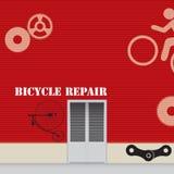 Gruppo di lavoro di riparazione della bicicletta Fotografia Stock