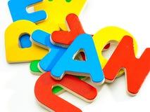 Lettere Di Legno Colorate : Gruppo di lettere di legno colorate immagine stock immagine di