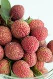 Gruppo di lychee fresco Immagini Stock
