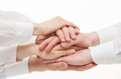 Gruppo di mani degli uomini d'affari Immagine Stock Libera da Diritti