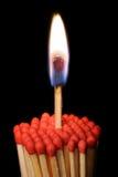 Gruppo di matchsticks Fotografia Stock