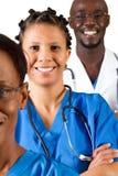 Gruppo di medici africano Fotografie Stock Libere da Diritti