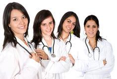 Gruppo di medici con le femmine soltanto Fotografia Stock