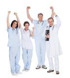 Gruppo di medici emozionanti felici Fotografia Stock Libera da Diritti