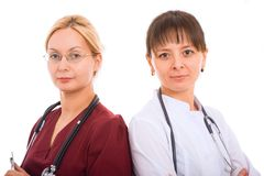 Gruppo di medici femminile. Immagine Stock