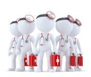 Gruppo di medici illustrazione 3D Contiene il percorso di ritaglio Immagine Stock