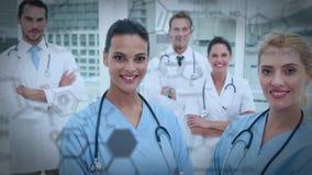 Gruppo di medici stock footage