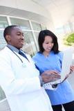 Gruppo di medici vario all'ospedale Fotografia Stock