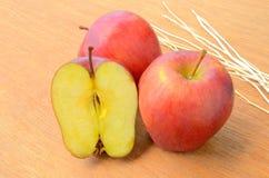 Gruppo di mela rossa Fotografia Stock