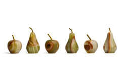Gruppo di mele e di pere fatte diaspro Fotografie Stock