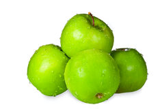 Gruppo di mele verdi Fotografia Stock Libera da Diritti