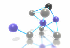 Gruppo di molecole connesse fotografia stock libera da diritti