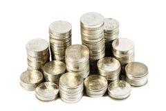 Gruppo di monete tailandesi Immagine Stock Libera da Diritti