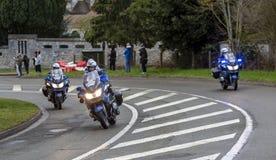 Gruppo di motociclisti della polizia - 2019 Parigi-piacevole fotografie stock