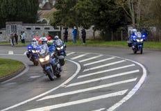 Gruppo di motociclisti della polizia - 2019 Parigi-piacevole fotografia stock