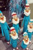 Gruppo di nani fatti a mano come decorazione di natale Fotografie Stock Libere da Diritti