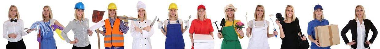 Gruppo di occupazione del ritratto di affari delle donne di professioni dei lavoratori Fotografie Stock