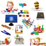 Gruppo di oggetti di tema di formazione immagini stock