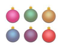 Gruppo di ornamenti di festa Immagini Stock Libere da Diritti