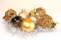 Gruppo di ornamenti di Natale Fotografie Stock Libere da Diritti