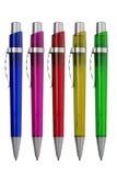 Gruppo di penne multicolori Immagine Stock