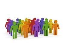Gruppo di persone. Fotografie Stock