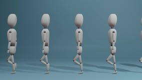 Gruppo di persone di camminata collegato illustrazione di stock