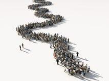 Gruppo di persone che attendono nella riga Fotografie Stock Libere da Diritti