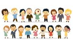Gruppo di persone che cantano Immagini Stock Libere da Diritti