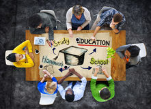 Gruppo di persone con il concetto di istruzione Fotografie Stock