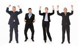 Gruppo di persone di affari in studio immagini stock libere da diritti