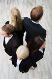 Gruppo di persone di affari in un cerchio Fotografia Stock Libera da Diritti