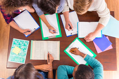 Gruppo di persone gli studenti Immagine Stock Libera da Diritti