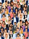Gruppo di persone il modello senza cuciture Fotografia Stock Libera da Diritti