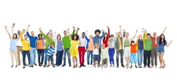 Gruppo di persone innalzamento delle mani Immagini Stock Libere da Diritti