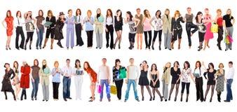 Gruppo di persone isolati sopra bianco Immagini Stock