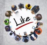 Gruppo di persone la rete sociale e come il concetto Immagine Stock Libera da Diritti